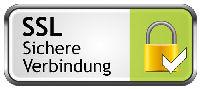 Persönliche Daten werden in der Bestellabwicklung über eine SSL-Verschlüsselung übertragen.